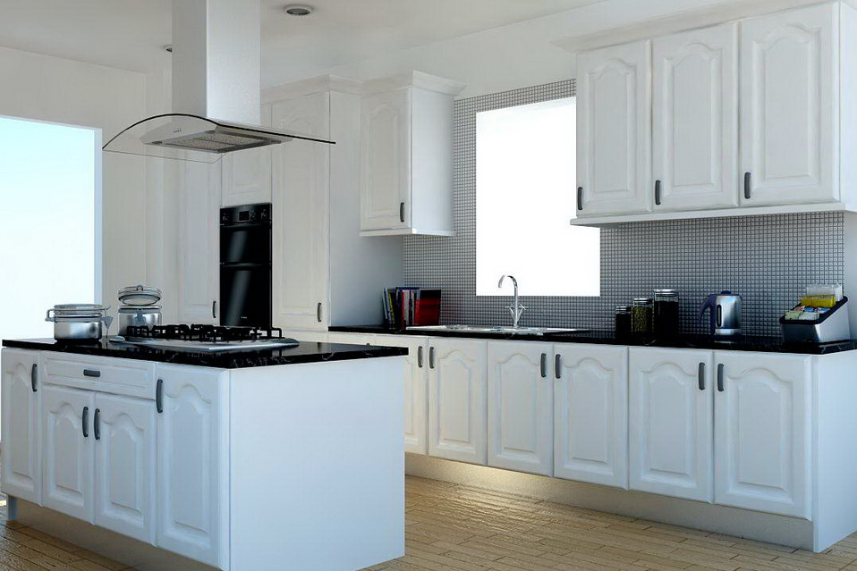 This Glorious White High Gloss Cathedral Style Kitchen Is Now Only £1495.  Included In This Price Is, The Kitchen Island, Double Oven, Island  Extractor, ...